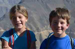 The kids' attitudes were incredible.  This photo was just after climbing out the canyon.