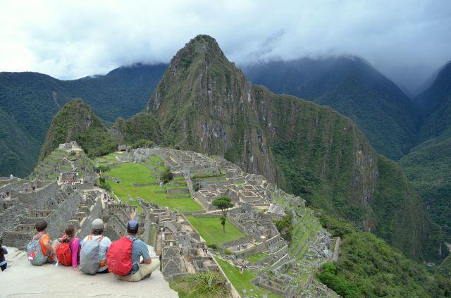 At Machu Pichu