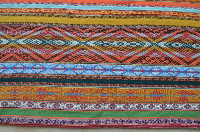 Textile woven by our natural dye instructor (these are all natural colors)