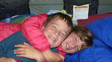 Happy trekking kids