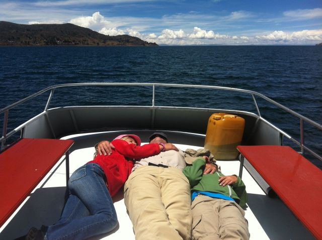 Nap on Lake Titicaca