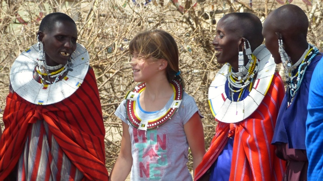 Lucia with Maasai women