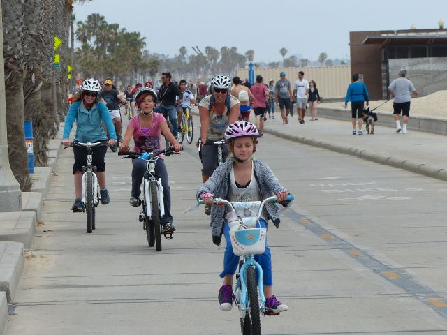 Biking on Venice Beach