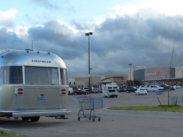 Camping in the Walmart Parking Lot