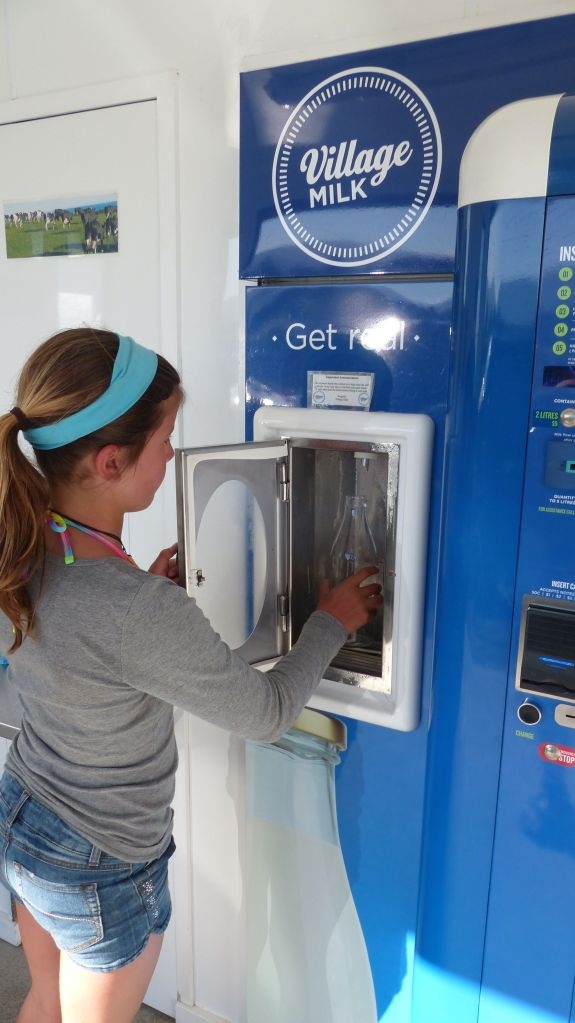 You can even buy raw milk from a vending machine