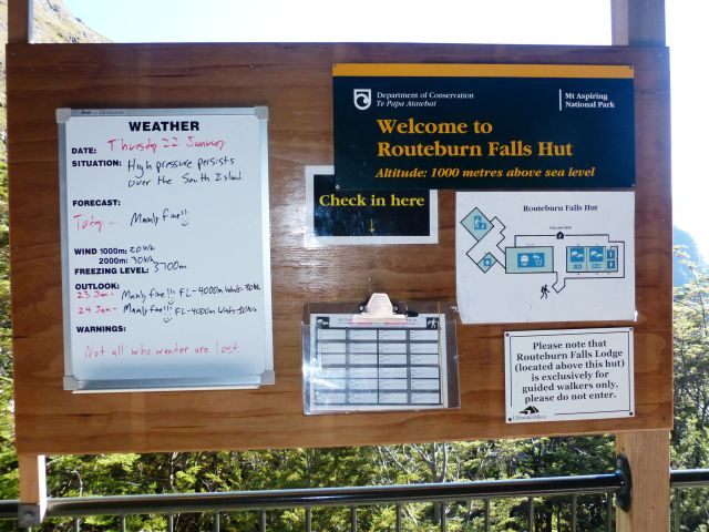 The notice board keeps you informed