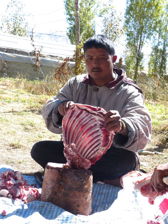 Preparing Goat