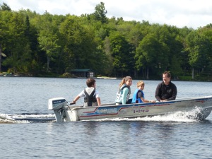 Boating on Big Moose Lake